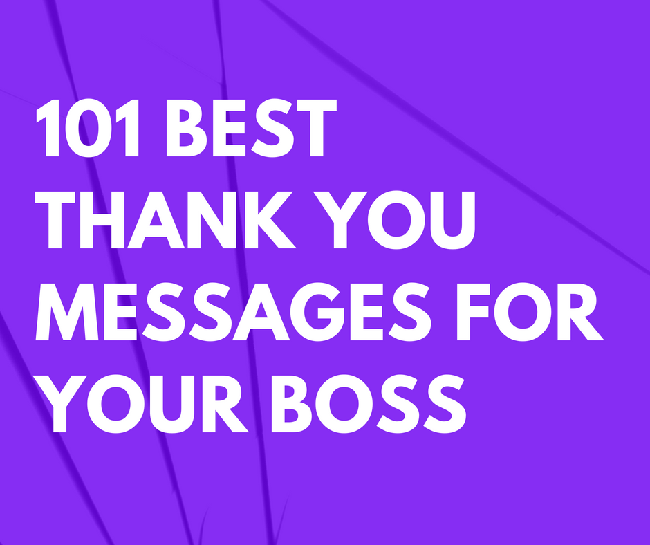 101 Best Thank You Messages for Your Boss