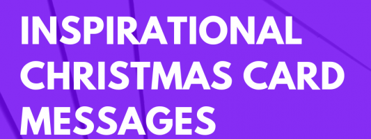 75 Inspirational Christmas Card Messages For Family And Friends