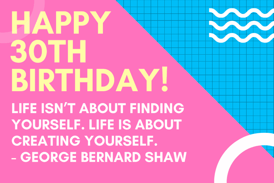 30th-birthday-quote-george-shaw
