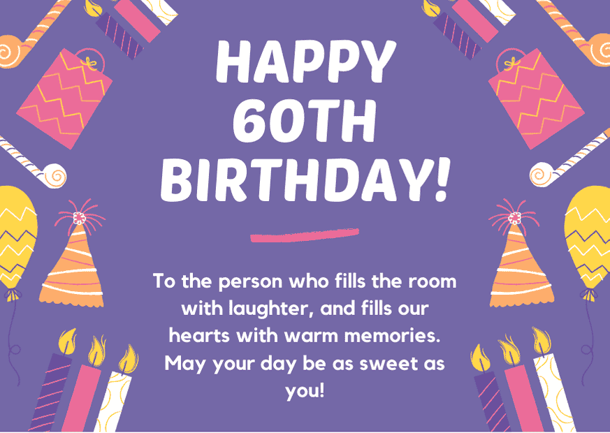 Details about  /Happy 60th Birthday