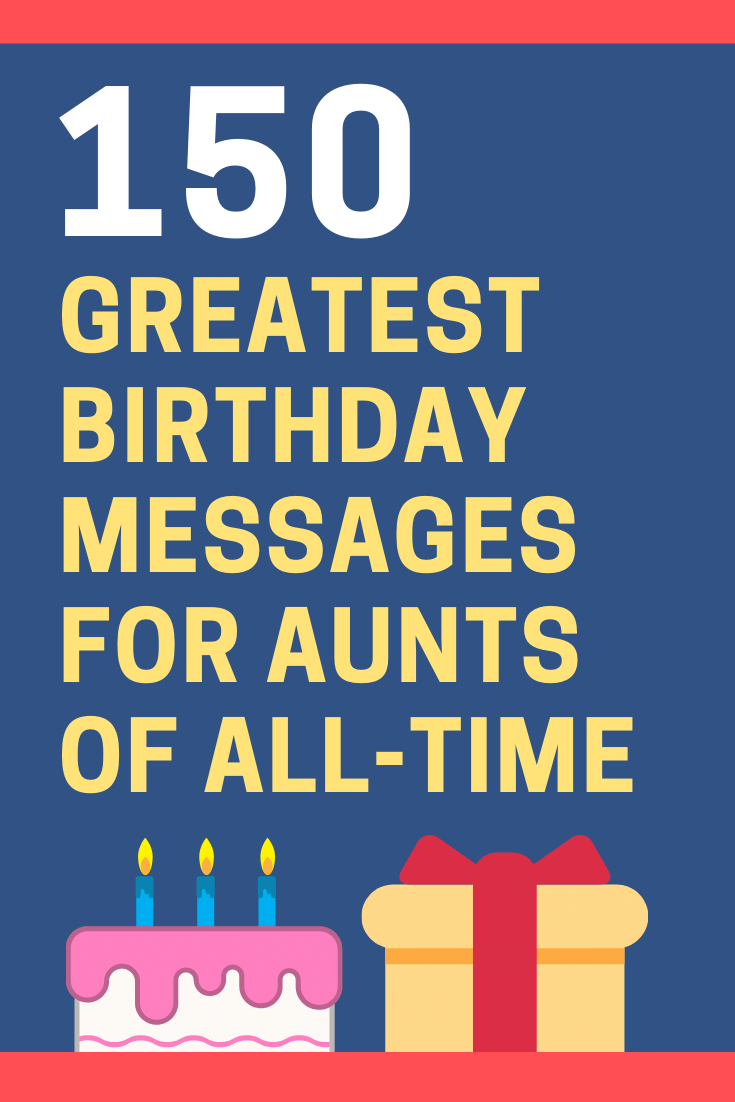 Birthday Messages for Aunts