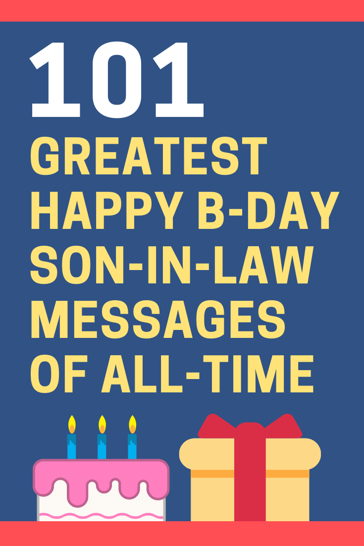 Birthday Messages for Son-in-Law