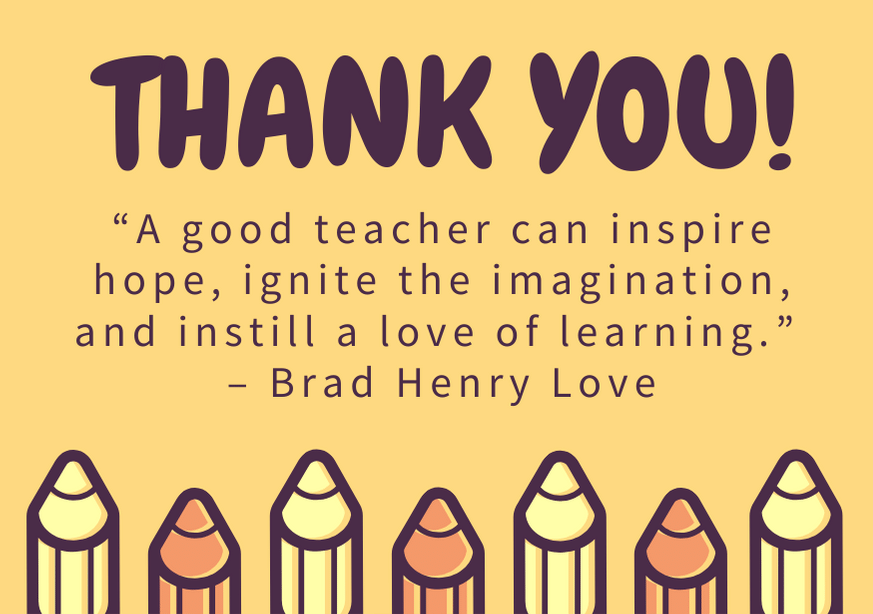 100 Best Teacher Appreciation Thank You Notes Ever Written Futureofworking Com