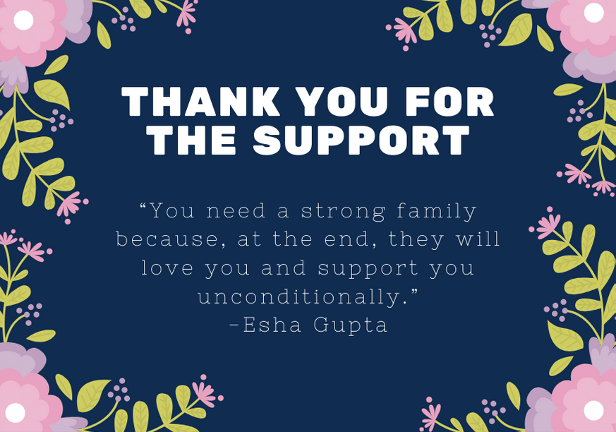 101 Thank You Messages For Family Support With Quotes Futureofworking Com