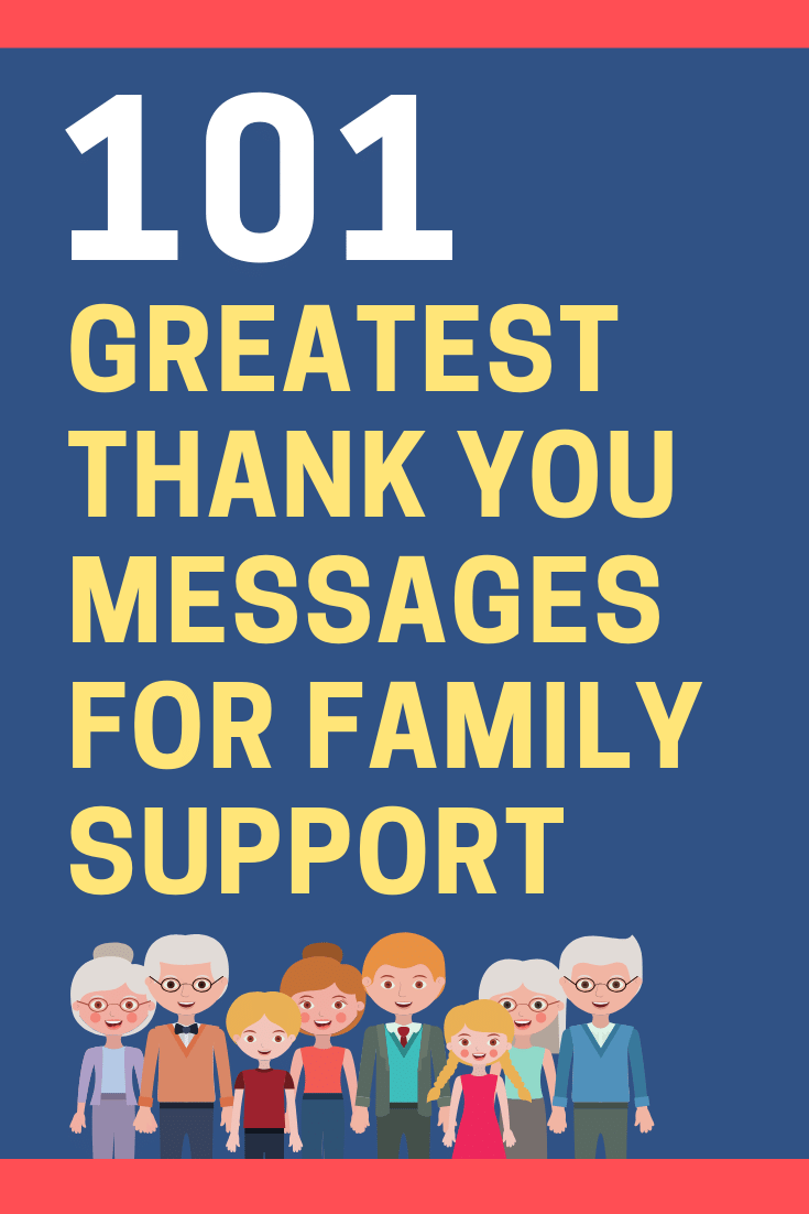 Thank You Messages for Family Support