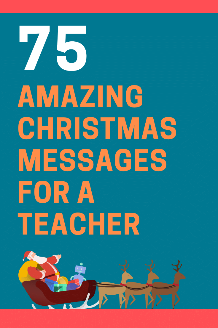 Christmas Messages for a Teacher