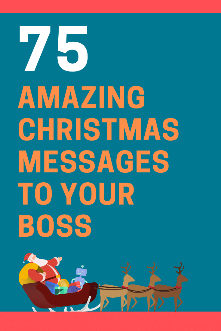 Christmas Messages to Your Boss