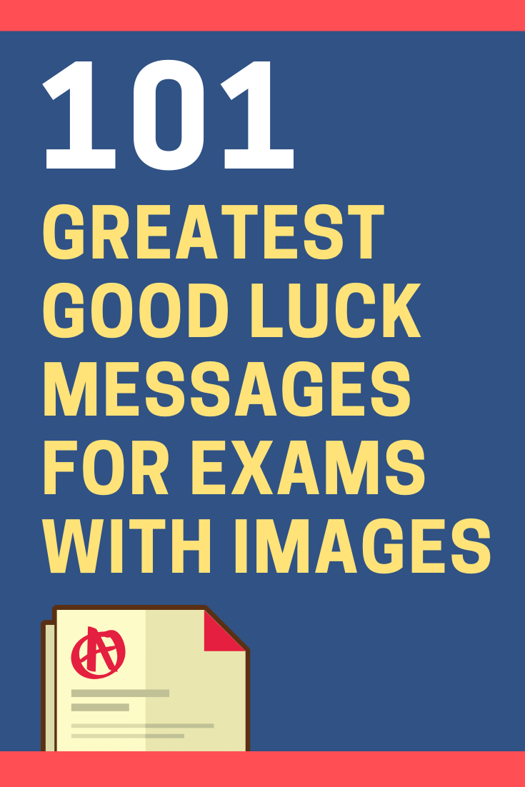 Good Luck Messages for Exams with Images