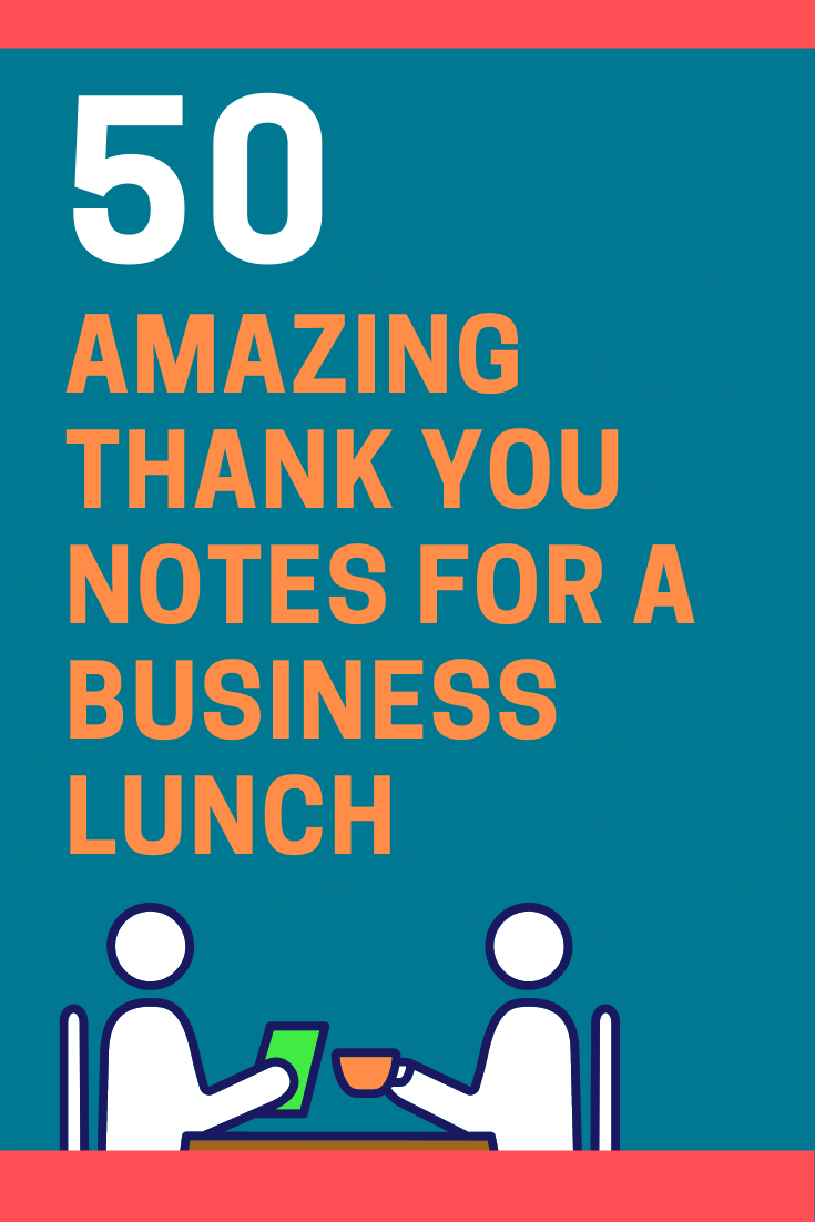 Thank You Notes for a Business Lunch