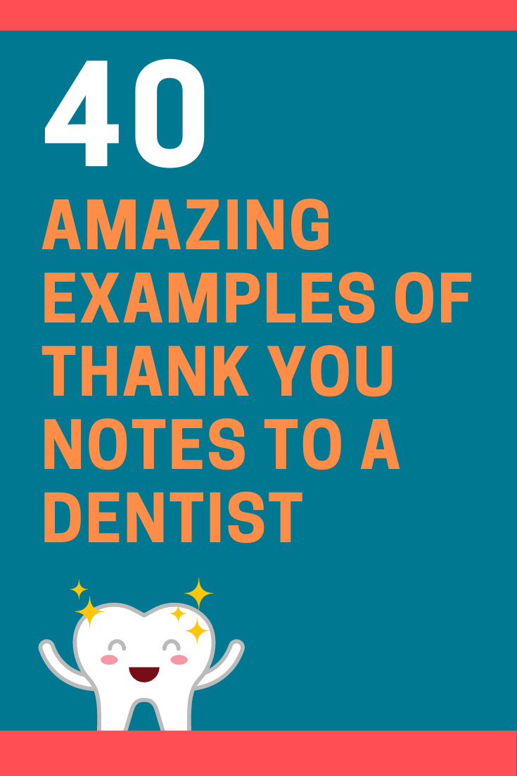 Thank You Notes to a Dentist