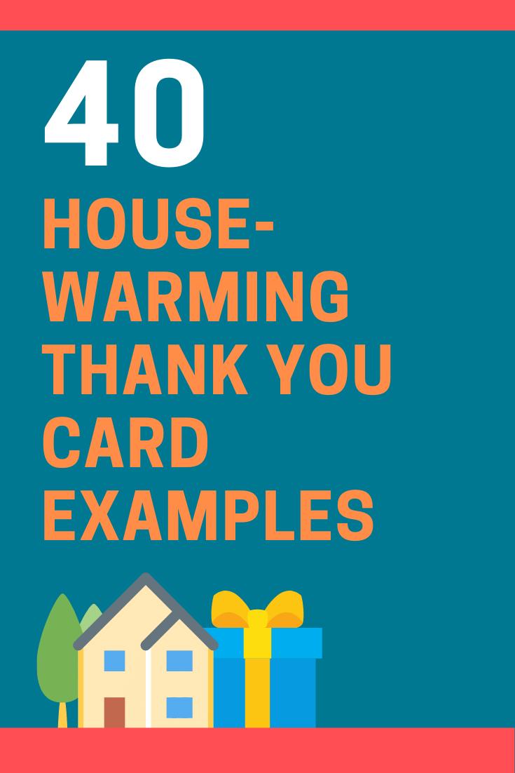 Housewarming Thank You Card Wording Examples
