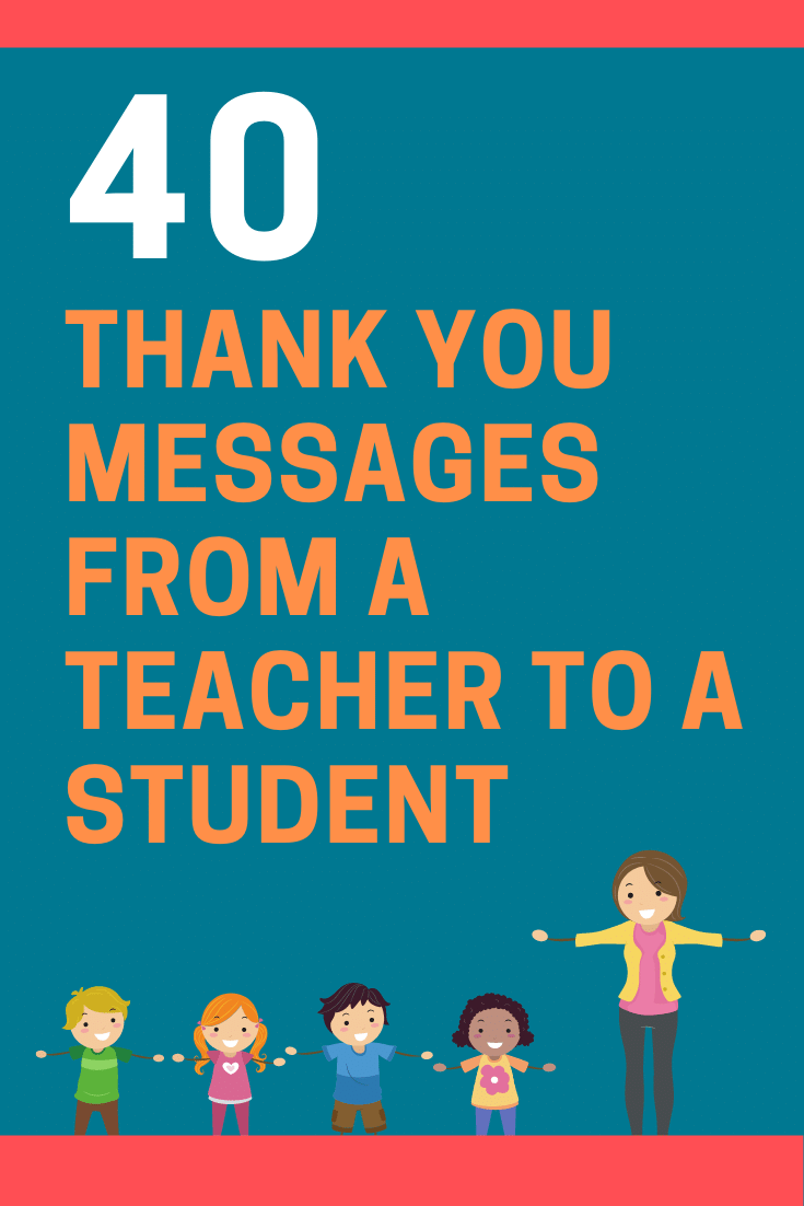 Thank You Messages from a Teacher to a Student