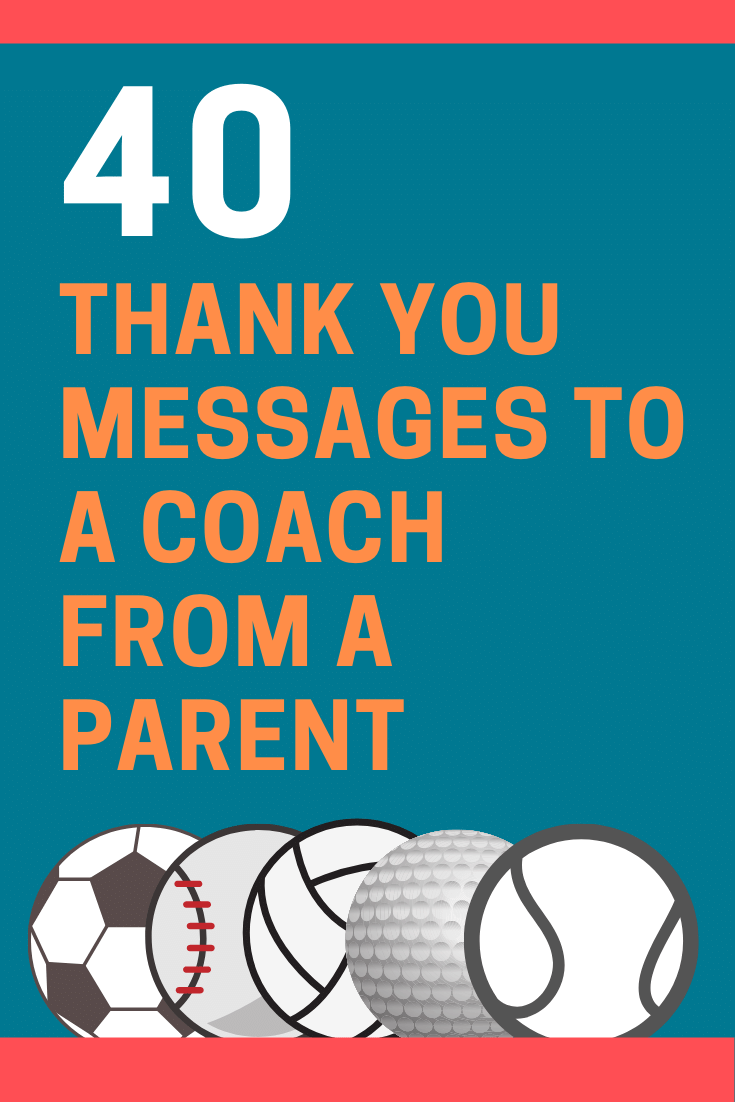 Thank You Messages to a Coach from a Parent