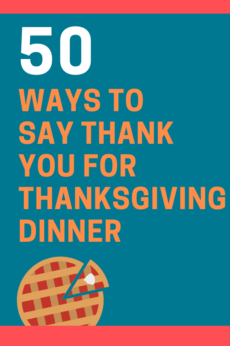 Ways to Say Thank You for Thanksgiving Dinner